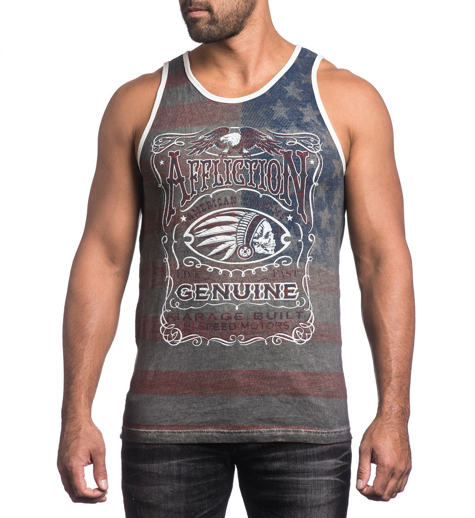Mens Tank Tops - Genuine Whiskey