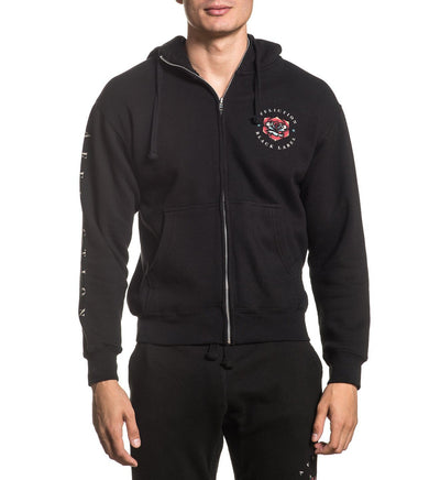 Screaming Dagger Zip Hood - Mens Track Jackets And Pants - Affliction Clothing