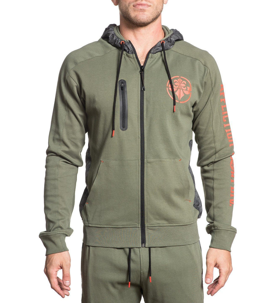 Mens Track Jackets And Pants - Space Race Zip Hood