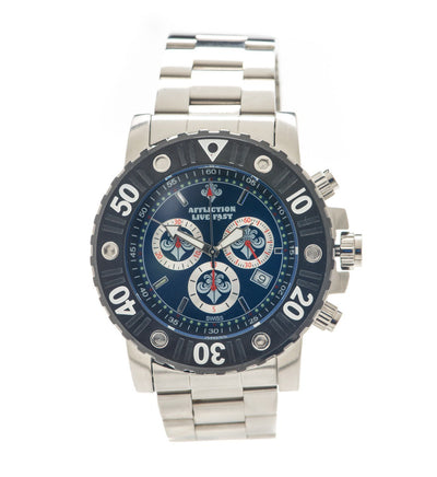 Gents Chronograph Steel Watch - Mens Watches - Affliction Clothing