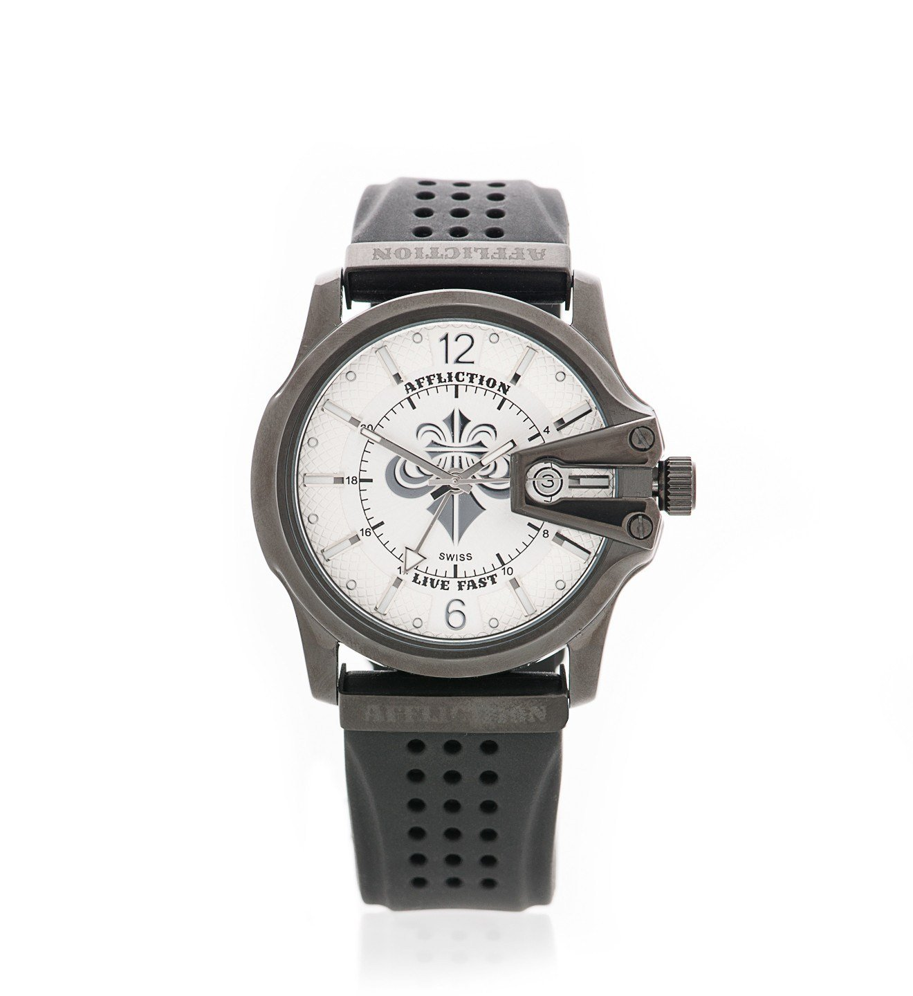 Gents Large Round Watch - Mens Watches - Affliction Clothing
