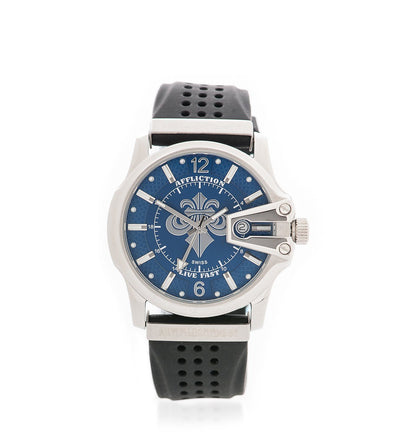 Gents Large Round Watch Steel - Mens Watches - Affliction Clothing