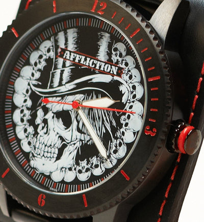 Top Hat Wide Strap Watch - Mens Watches - Affliction Clothing