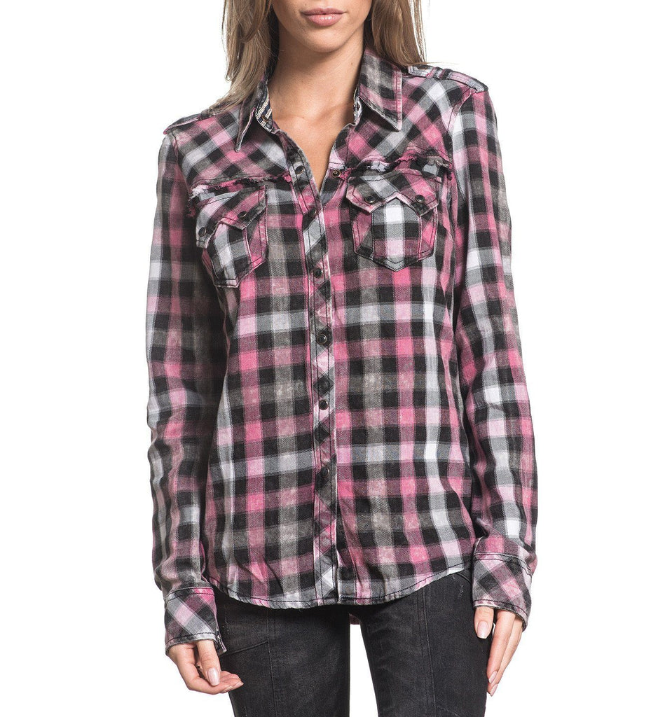 Womens Button Down Tops - Addicted Love
