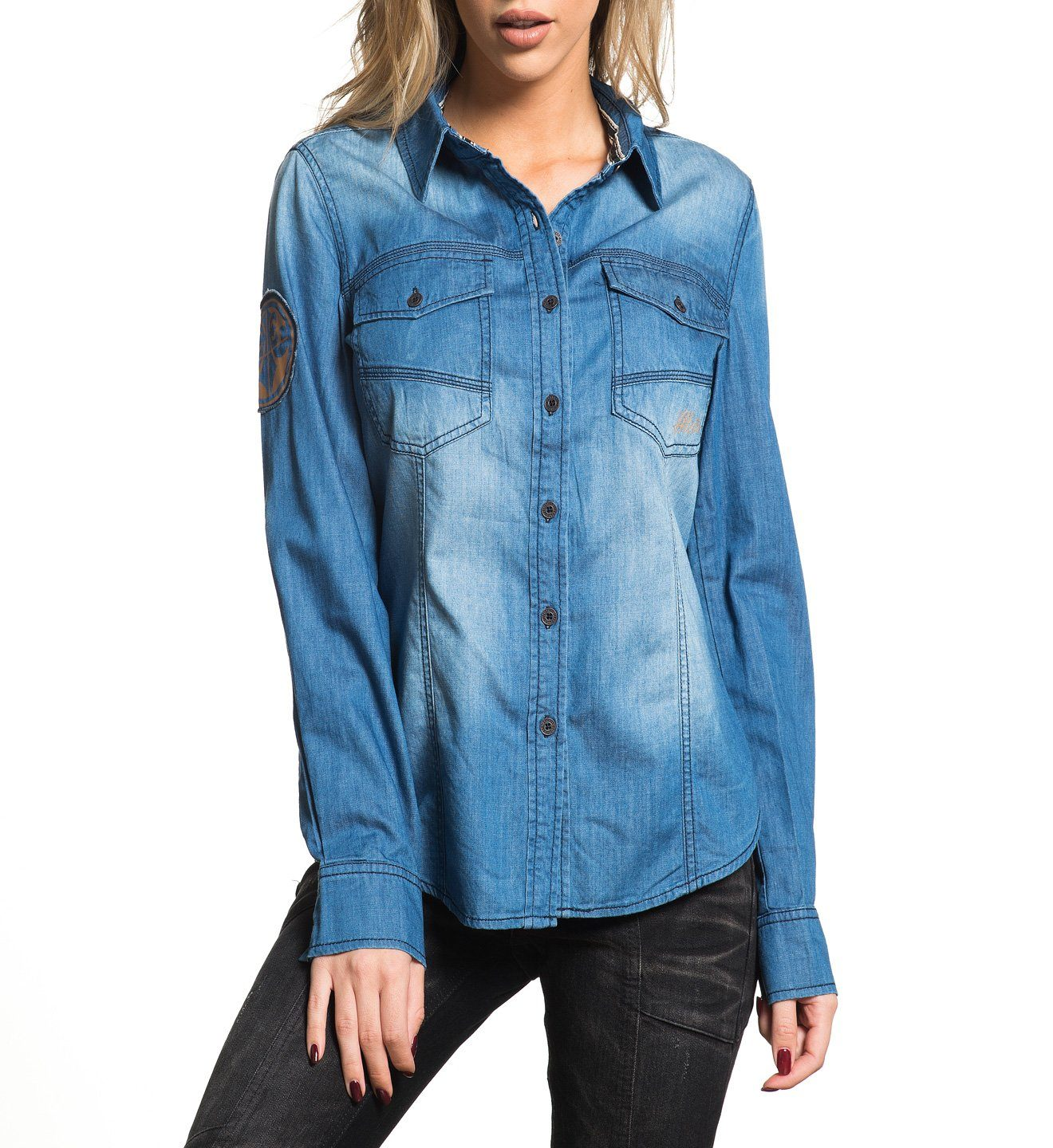 Blue Dawn - Womens Button Down Tops - Affliction Clothing