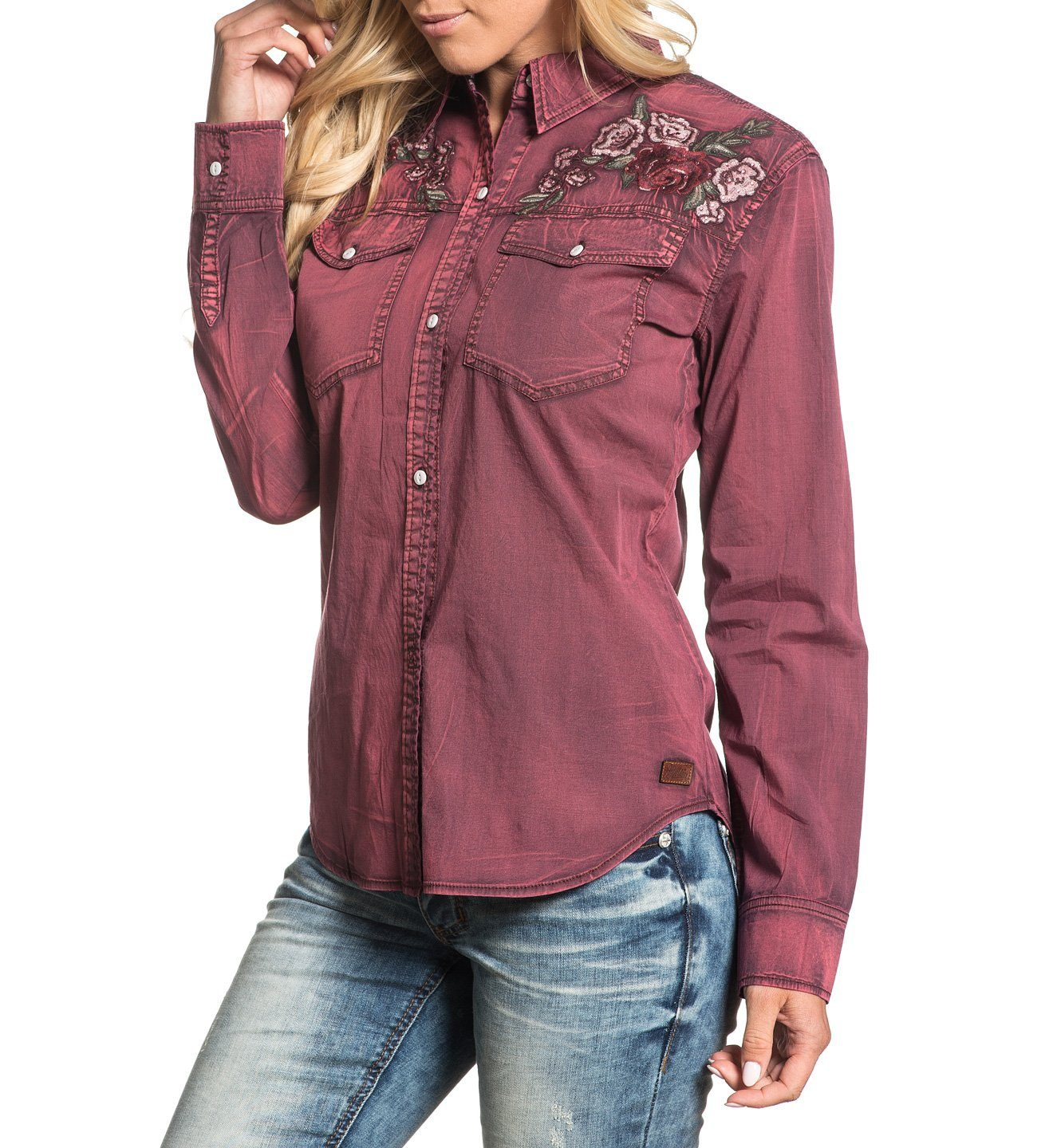 Botanic - Womens Button Down Tops - Affliction Clothing