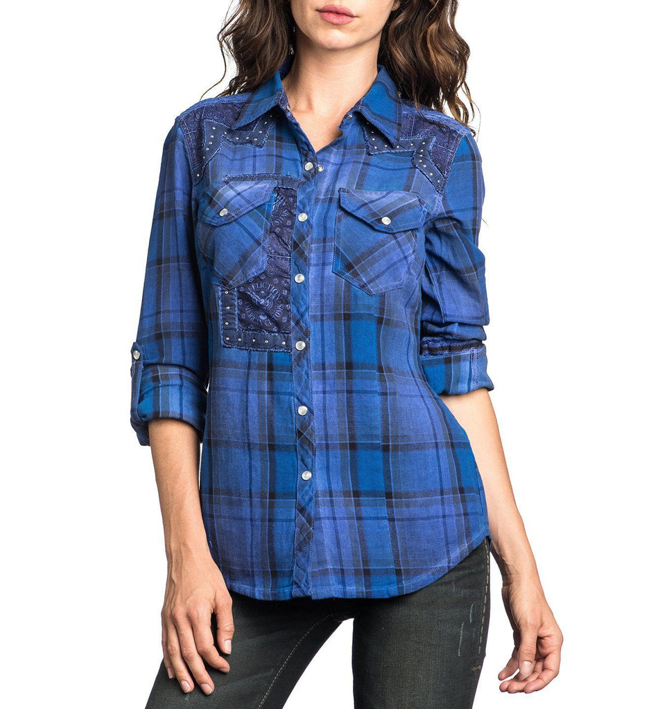 Womens Button Down Tops - Canter