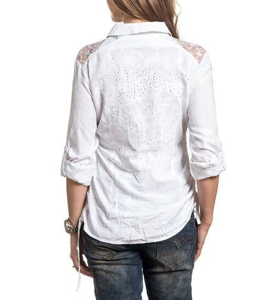 Endless Roads - Womens Button Down Tops - Affliction Clothing