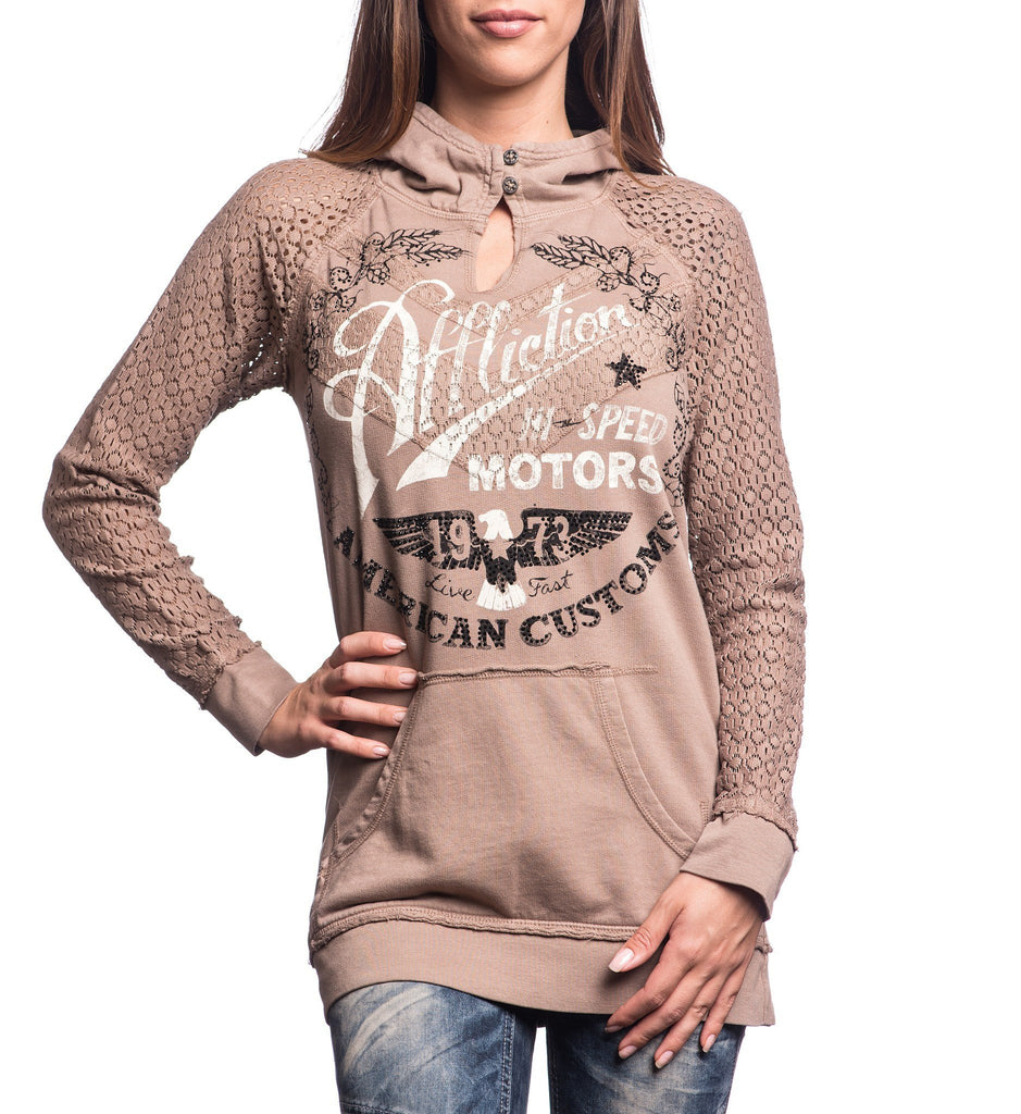 Womens Button Down Tops - Fast Times Hoodie