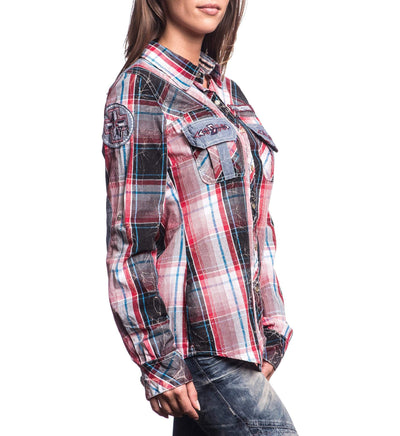Womens Button Down Tops - Flight Control