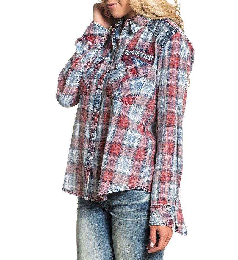 Knoxville - Womens Button Down Tops - Affliction Clothing