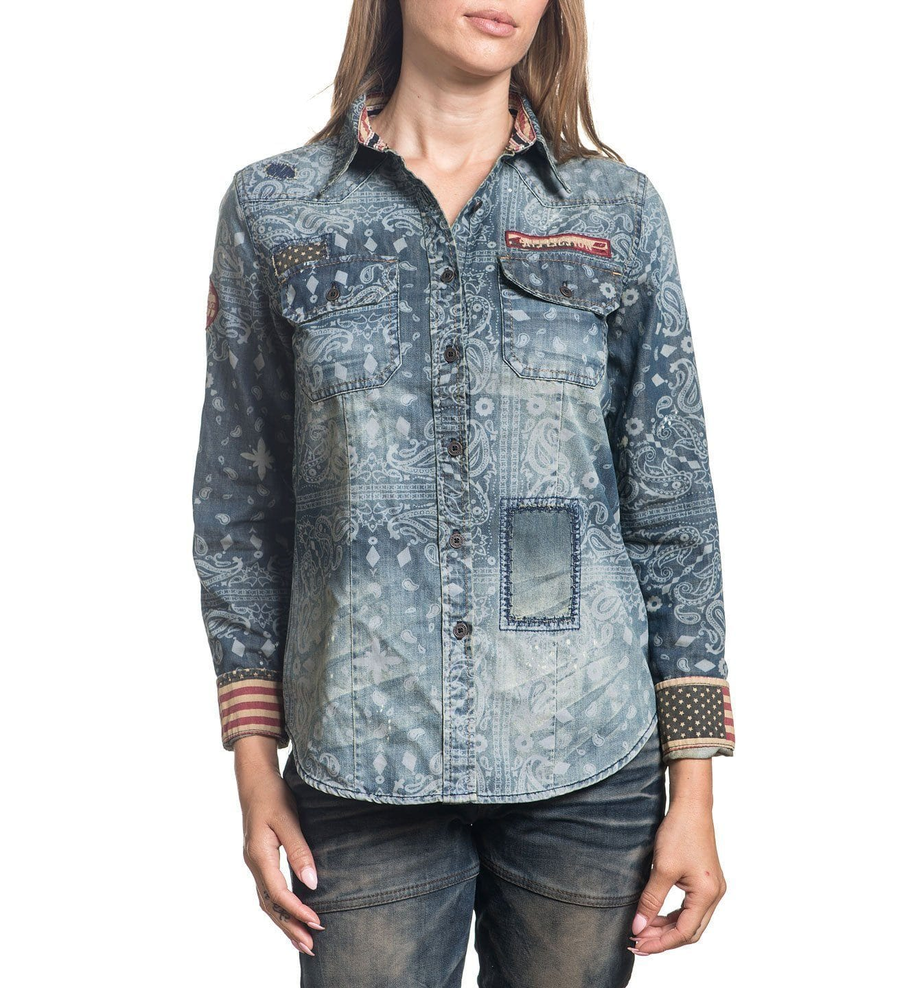 Paisley - Womens Button Down Tops - Affliction Clothing