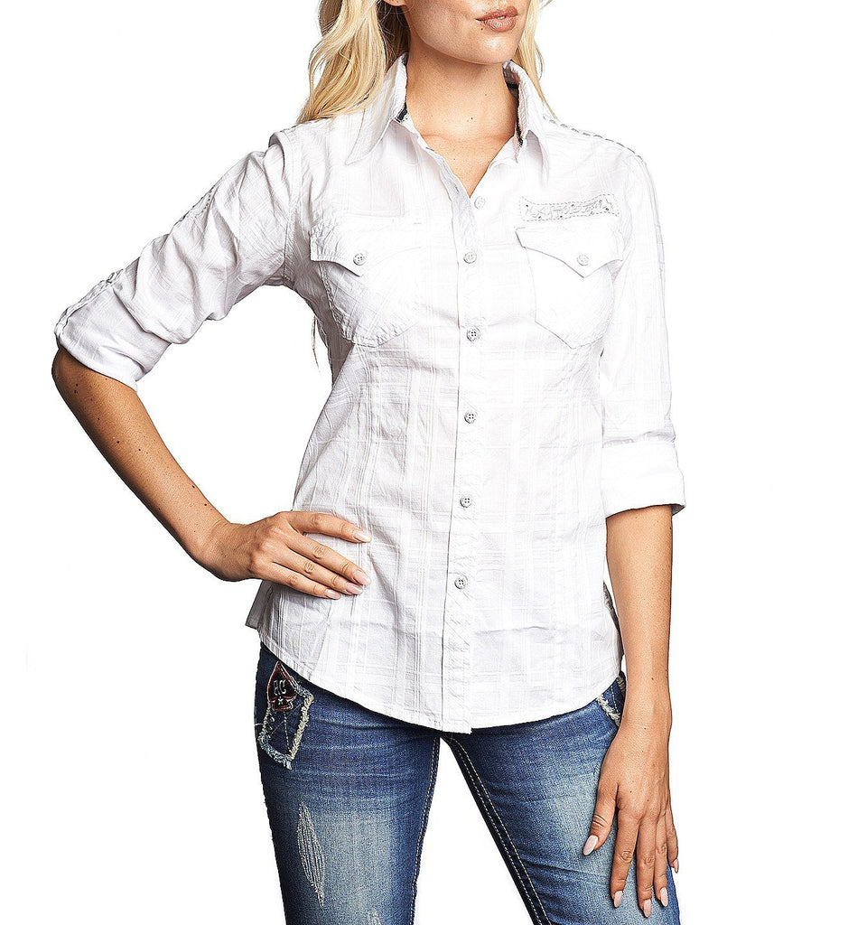 Womens Button Down Tops - Patrol