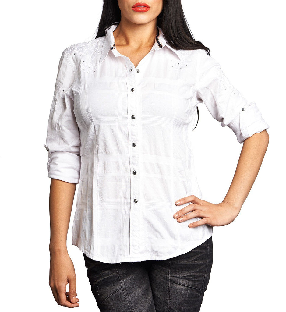Womens Button Down Tops - Radiant