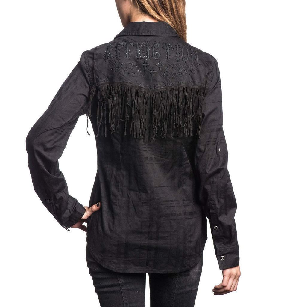 Womens Button Down Tops - Rock And Fringe
