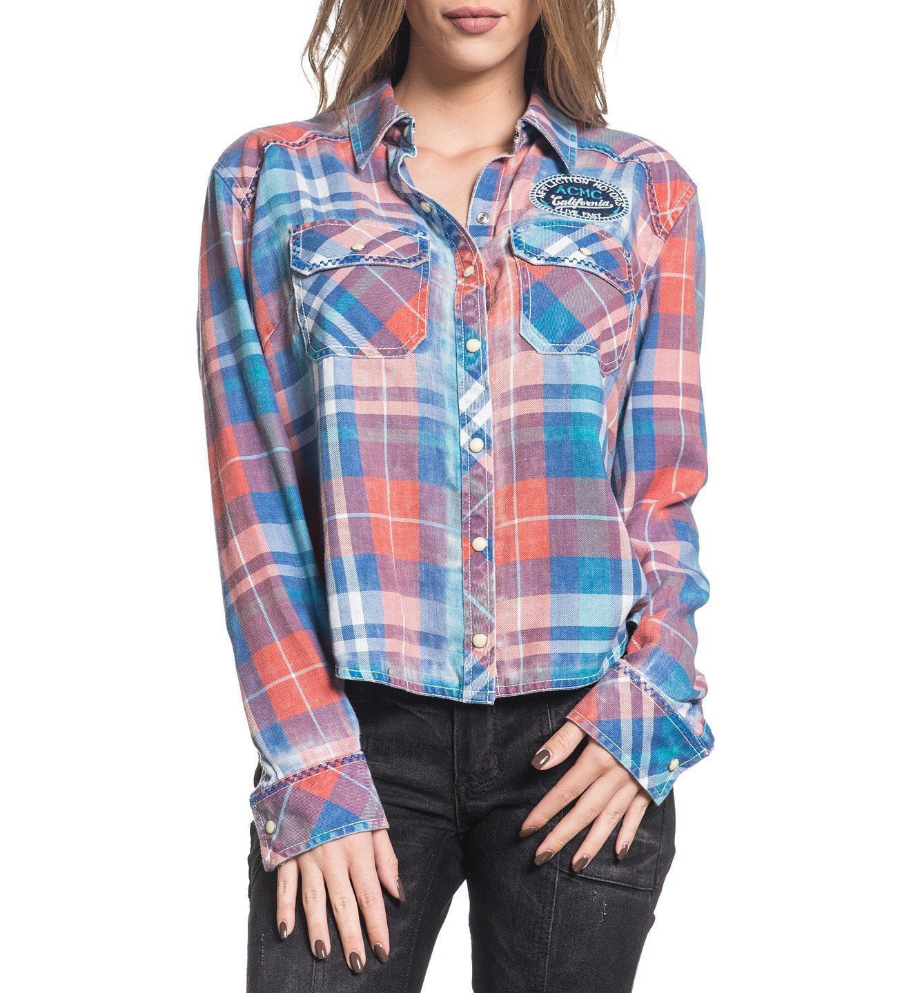 Sag Harbor - Womens Button Down Tops - Affliction Clothing