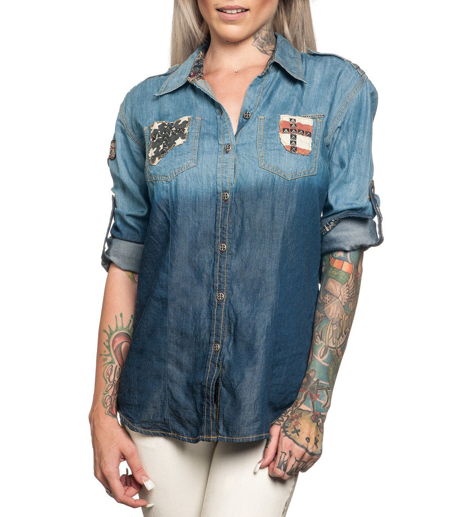Womens Button Down Tops - Speak Out Loud