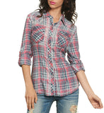 Womens Button Down Tops - Sun Kissed