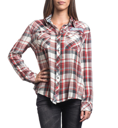 Womens Button Down Tops - Sweet Afternoon