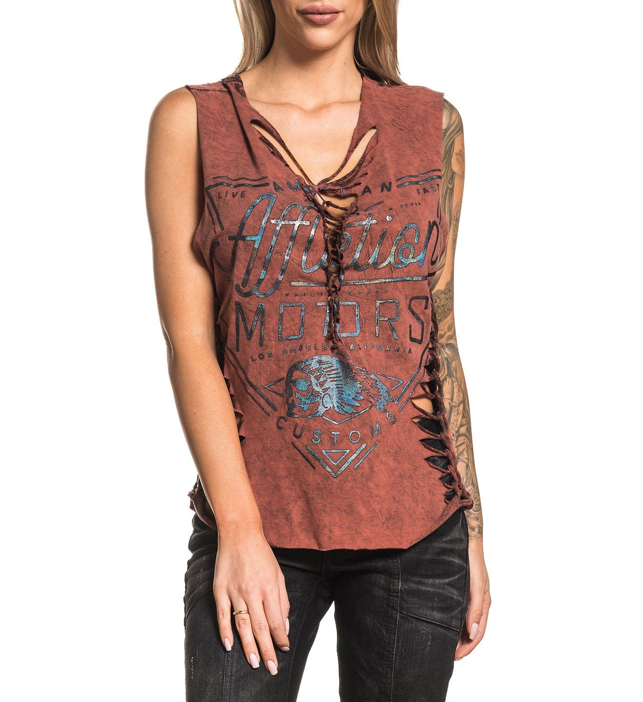 Womens Custom Crafted - Ac Cali Motors Custom Top