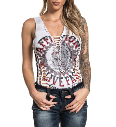 Ac Stampede Bodysuit - Womens Custom Crafted - Affliction Clothing