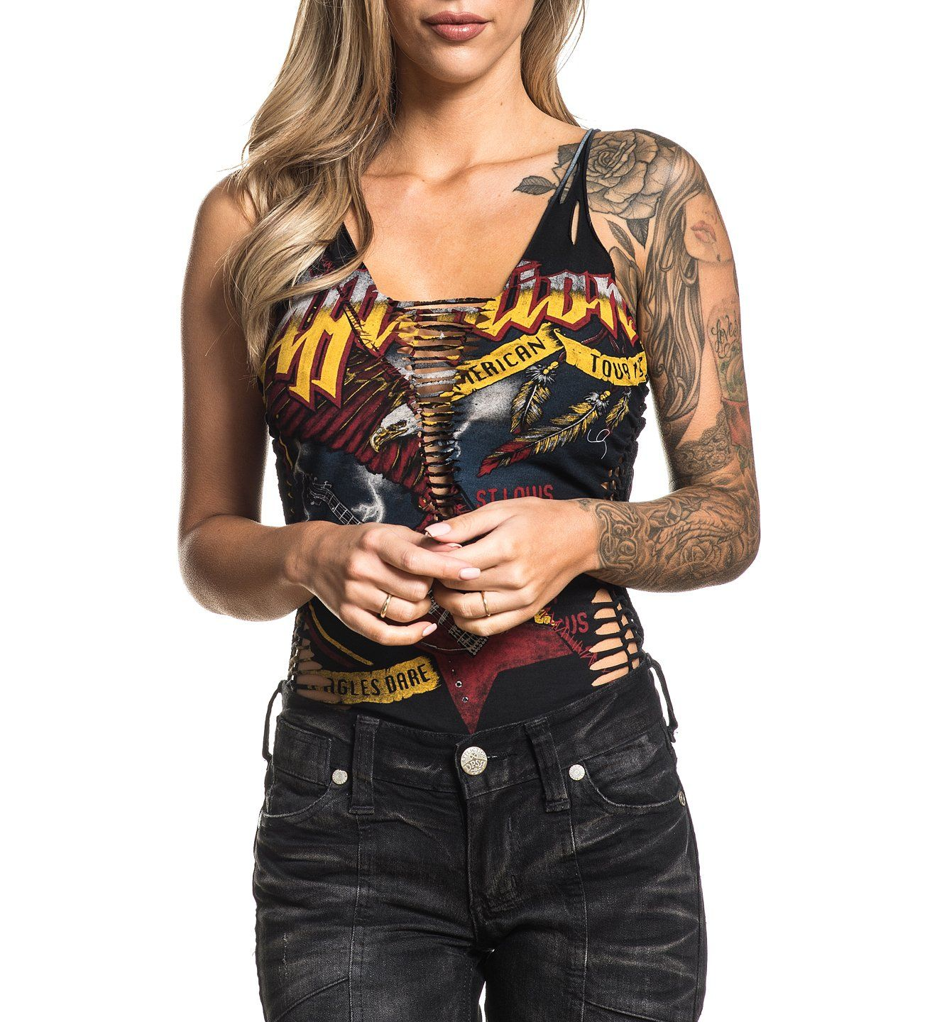 Womens Custom Crafted - Setlist Suture Rev. Bodysuit