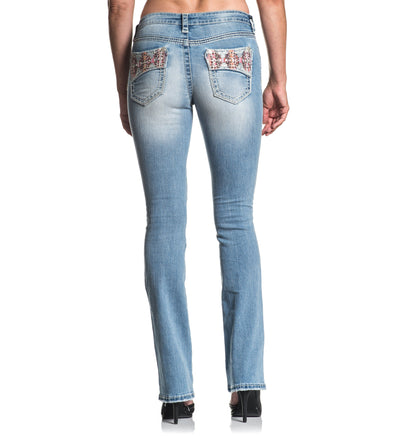 Jade Aries Ember - Womens Denim Bottoms - Affliction Clothing