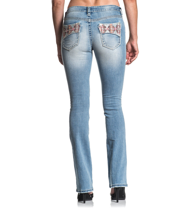 2fa38067af6850 Affliction Womens Jade Aries Ember Denim - Affliction Clothing