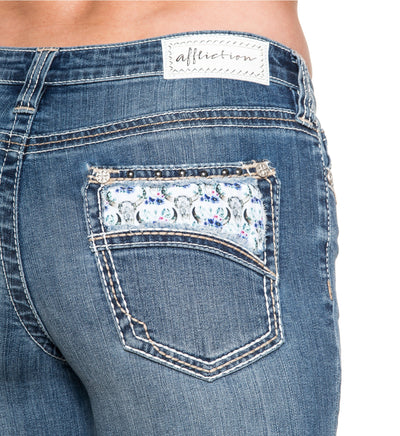 Jade Aries Sienna - Womens Denim Bottoms - Affliction Clothing