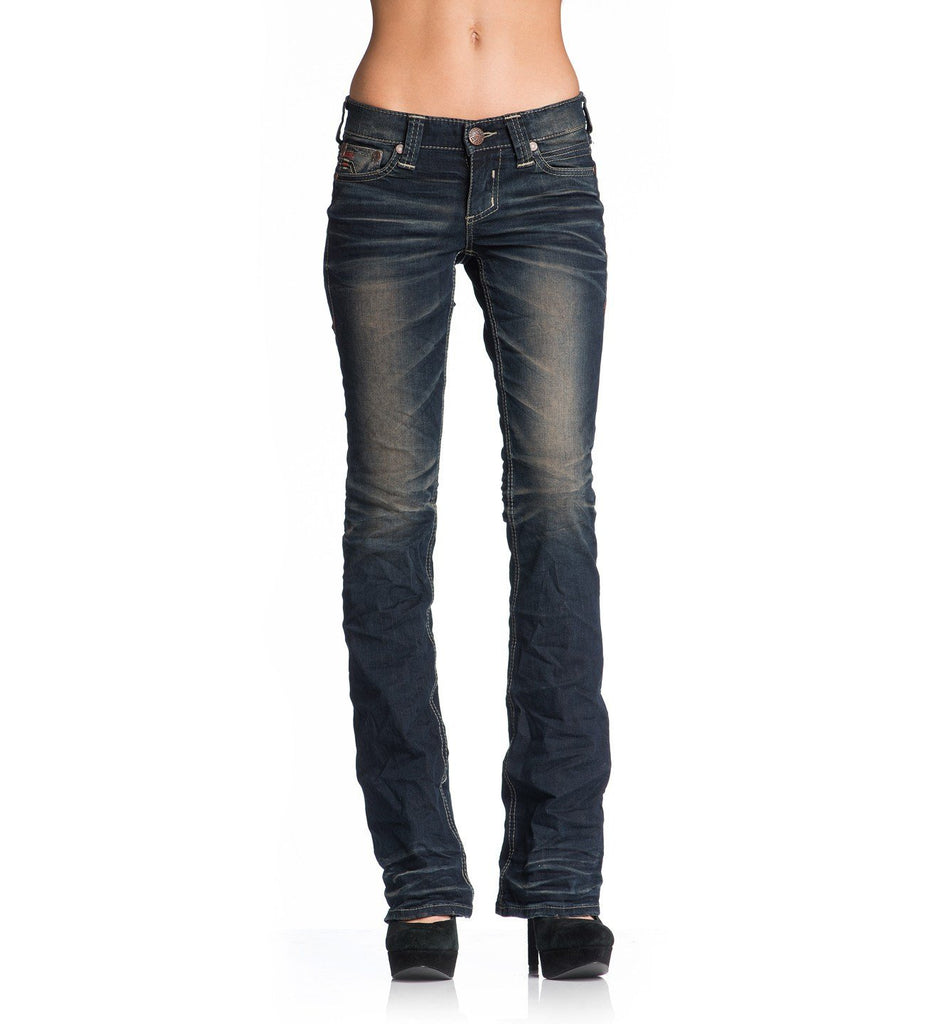 Womens Denim Bottoms - Jade Rising Clinton