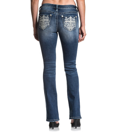 Jade Standard Cali - Womens Denim Bottoms - Affliction Clothing