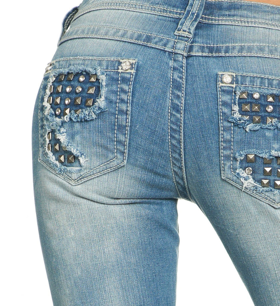 Womens Denim Bottoms - Jenna Crystal Dover