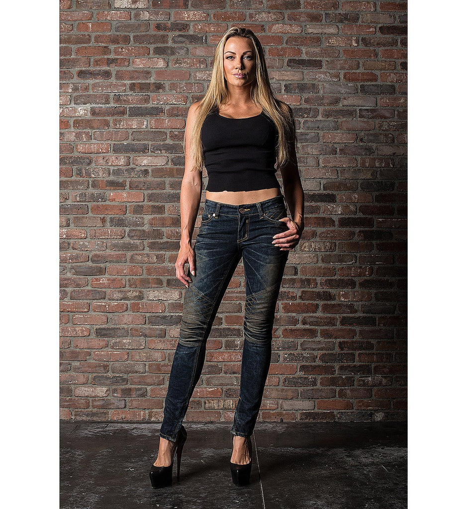 Womens Denim Bottoms - Raquel Alissa Downey