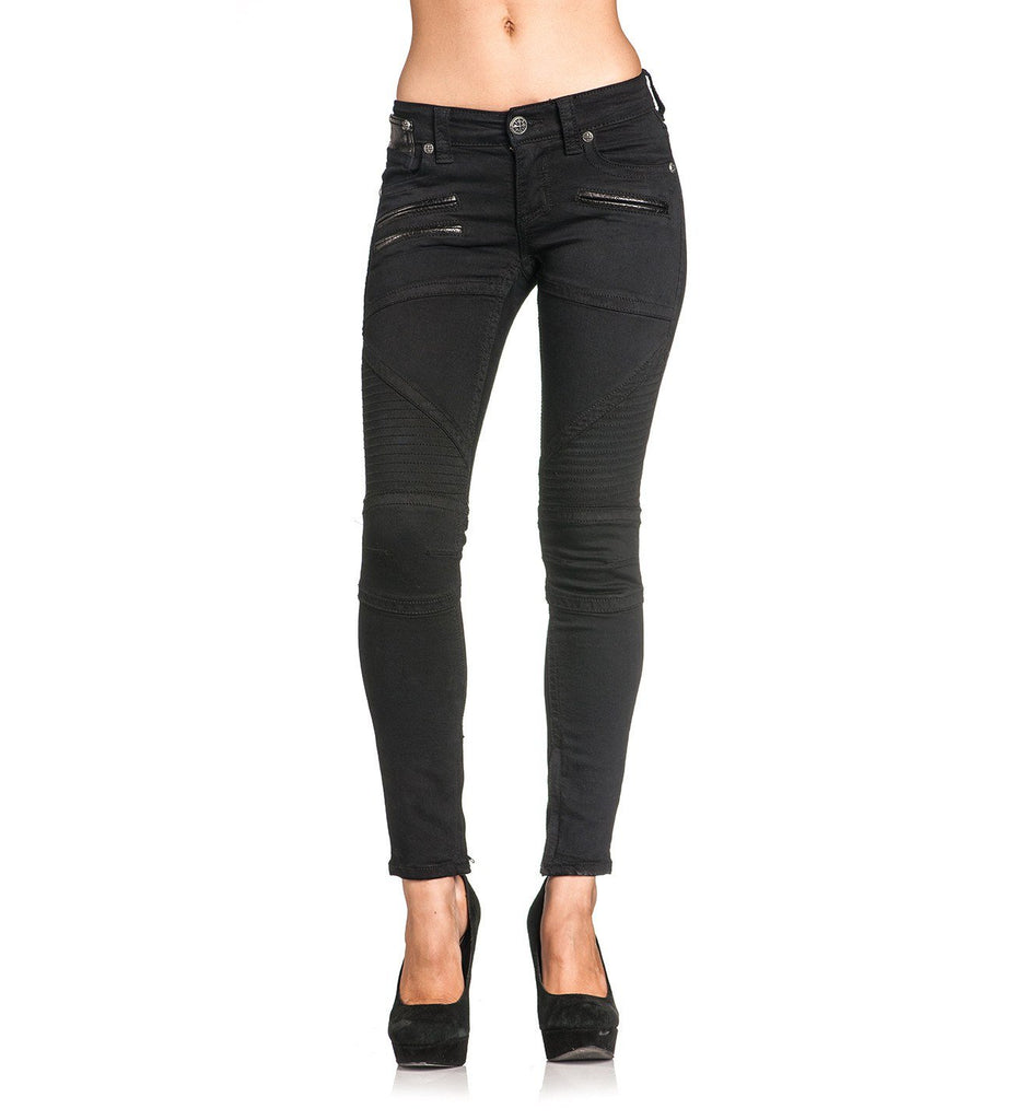 Womens Denim Bottoms - Raquel Avenge Black