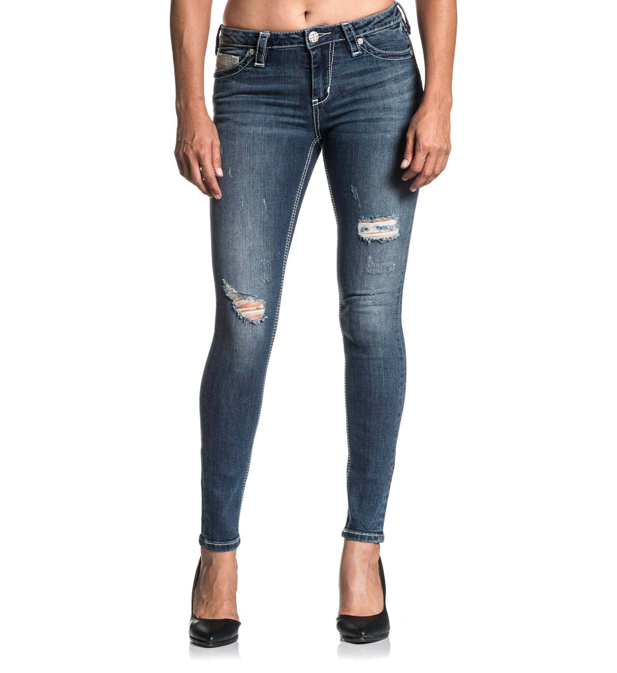 Womens Denim Bottoms - Raquel Fleur Gwen
