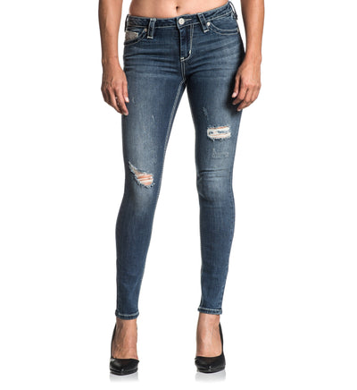 Raquel Fleur Gwen - Womens Denim Bottoms - Affliction Clothing