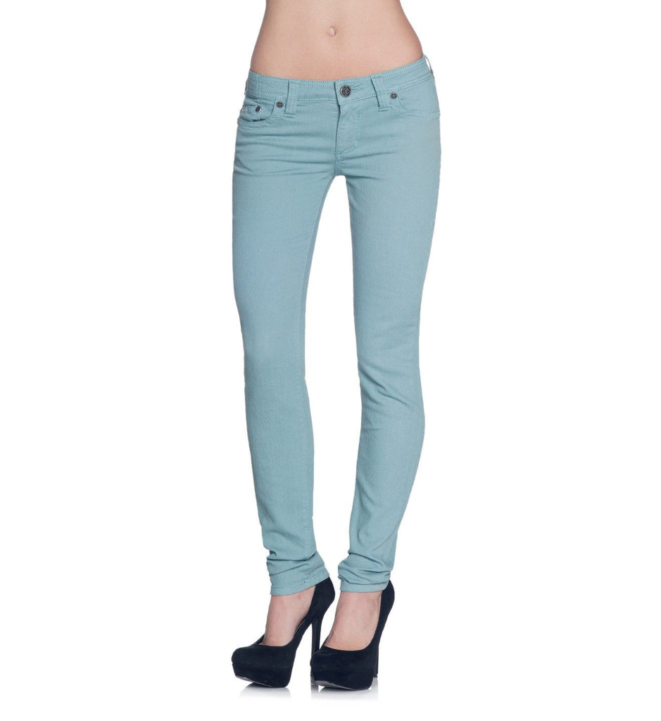 Womens Denim Bottoms - Raquel Fleur Teal