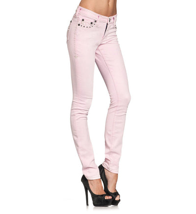 Womens Denim Bottoms - Raquel Maxine Pink