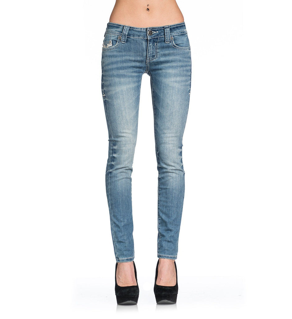 Womens Denim Bottoms - Raquel Rugged Fleur Freefall