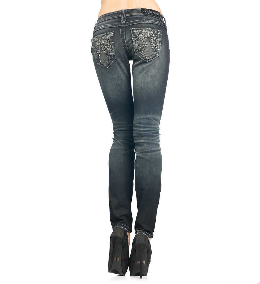 Womens Denim Bottoms - Raquel Rugged Fleur Levine