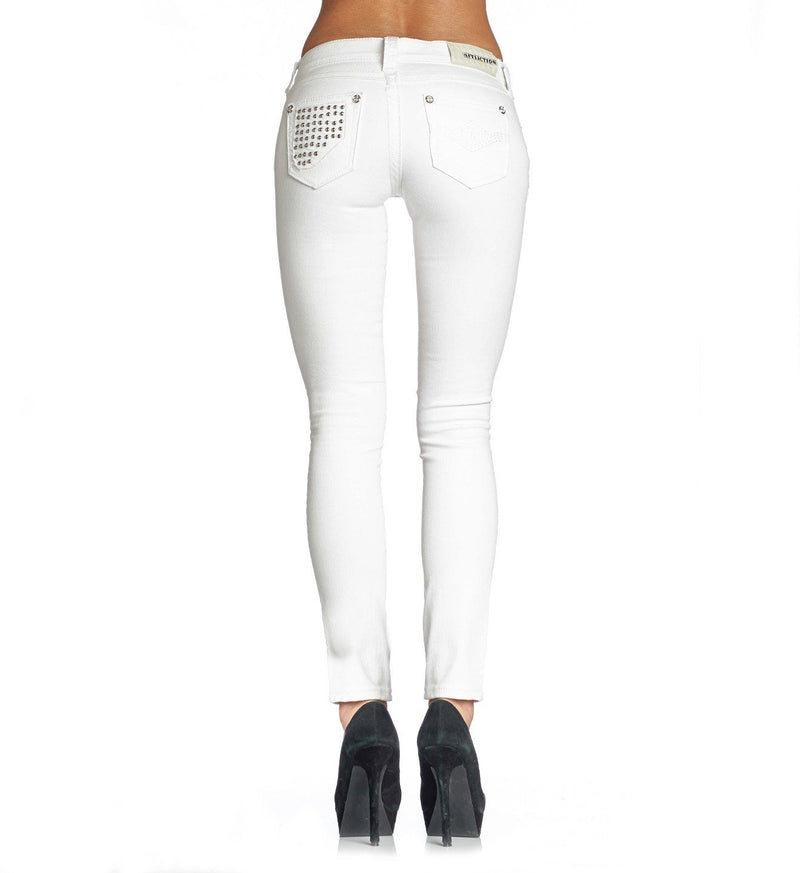Raquel Tara White - Womens Denim Bottoms - Affliction Clothing