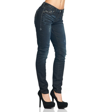 Womens Denim Bottoms - Raquel Trekker Cross Journey