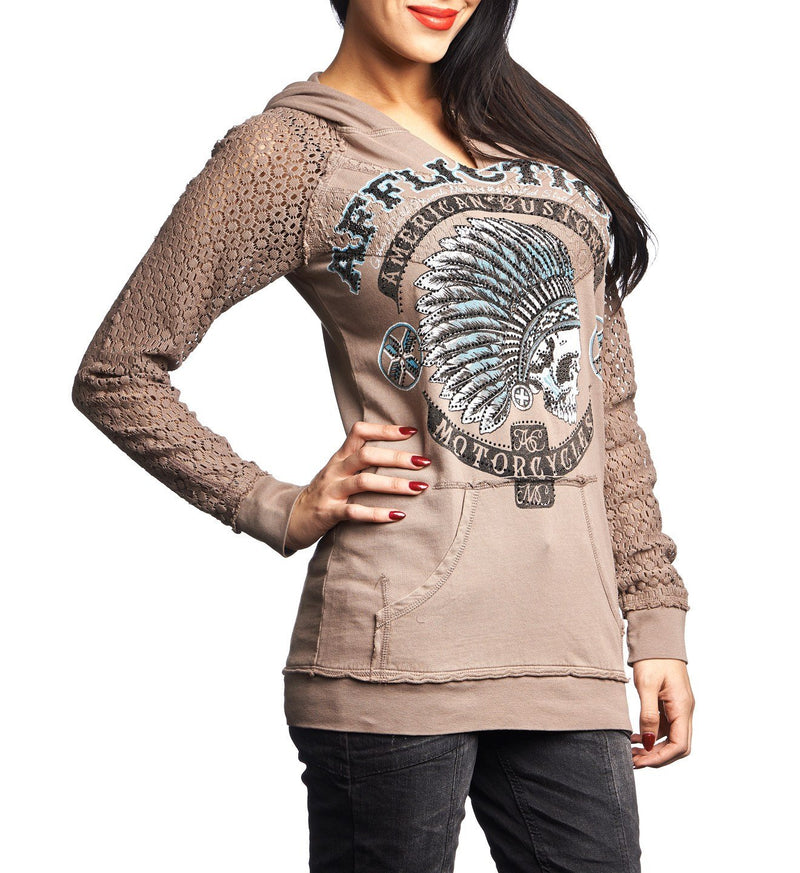 AC Arrow - Womens Hooded Sweatshirts - Affliction Clothing