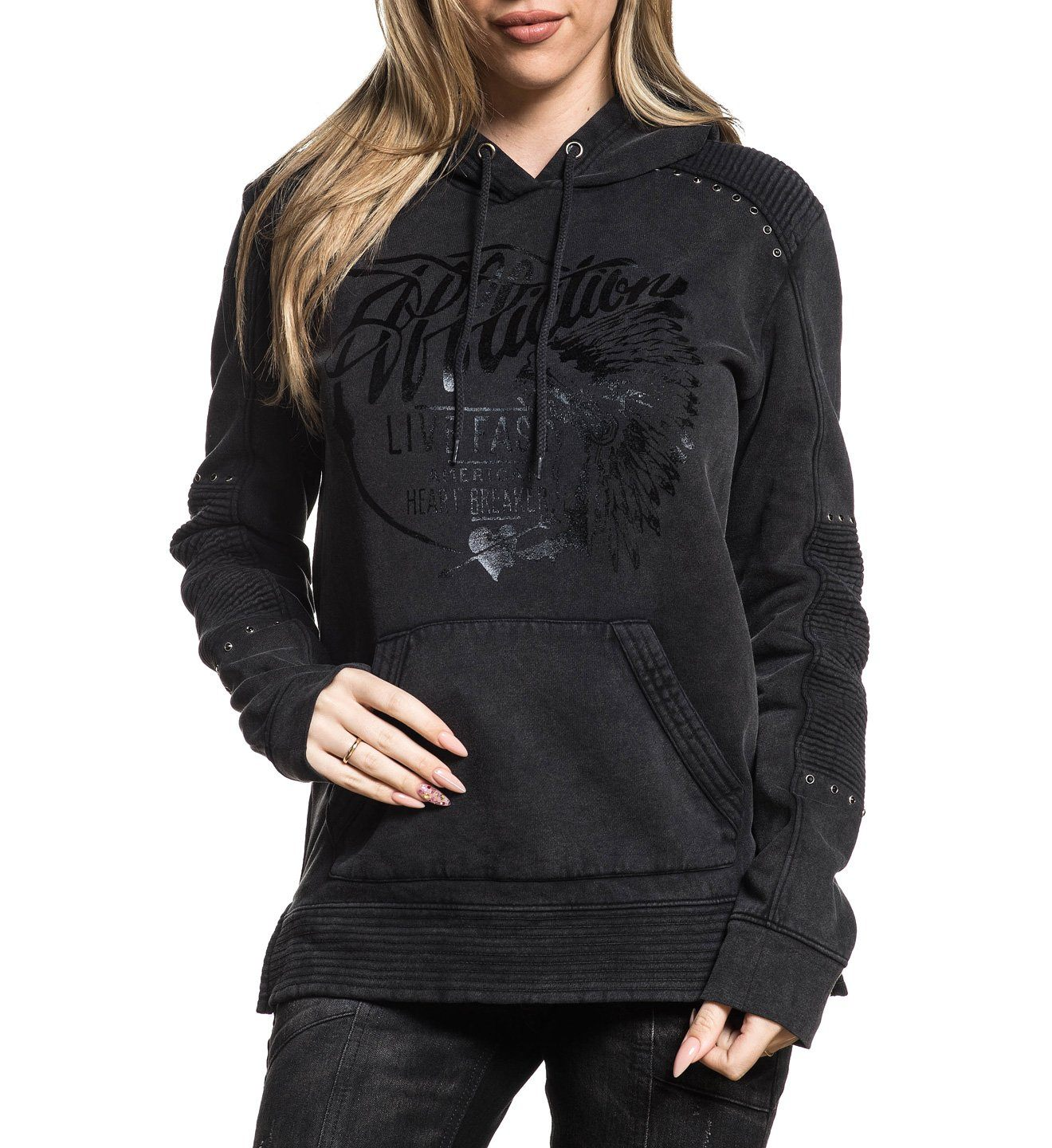 Breckenridge P/O Hood - Womens Hooded Sweatshirts - Affliction Clothing