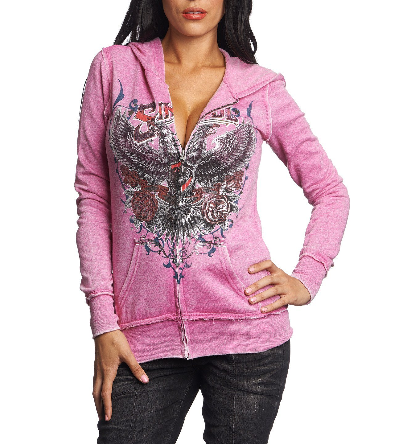 In Memory - Womens Hooded Sweatshirts - Affliction Clothing