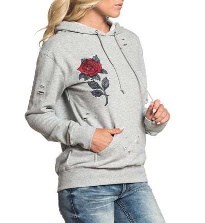 Red Roses - Womens Hooded Sweatshirts - Affliction Clothing