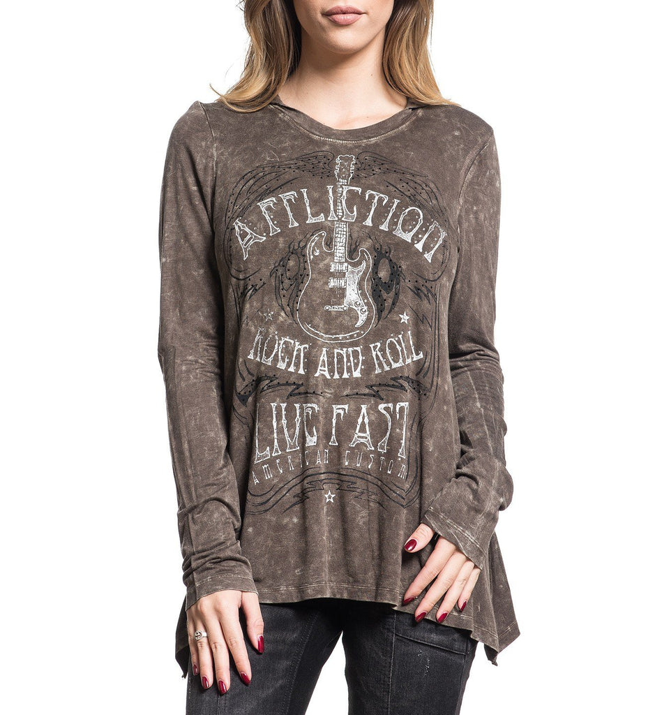 Womens Hooded Sweatshirts - Rock And Fire