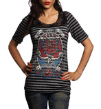 Womens Long Sleeve Tees - Anchors Aweigh