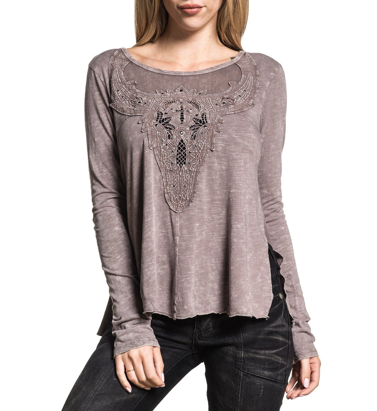 Womens Long Sleeve Tees - Antler