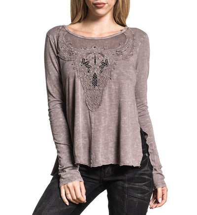 Antler - Womens Long Sleeve Tees - Affliction Clothing